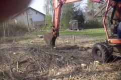 Ausbaggern der Baugrube
