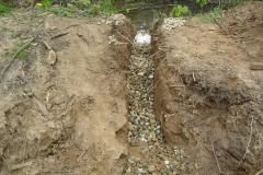 Verlegung der Drainage
